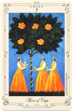 Three of Cups - Stella's Simple Tarot by Stella Kaoruko - rozamira tarot - Picasa Web Albums