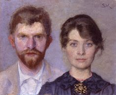 Doubleportrait of Marie and P.S. Krøyer 1890. She painted him, he painted her.