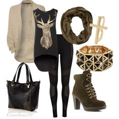 Jury is in.....I am in love with the Black tank with Gold Deer....and the Cardigan to go over it. Where can I find this?!