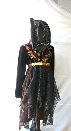 Women's velvet jacket, Embroidered,  Rustic Country clothes, Romantic gypsy cowgirl, shabby floral, Embellished, Boho, True rebel clothing
