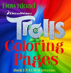 The Review Wire: Dreamworks TROLLS Printables  #trolls #movies #printables