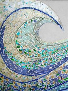 Ocean Springs Bridge mosaic art aqua turquoise teal blue