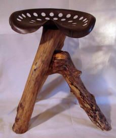 Tractor Seat Bar Stool Really Like This One Stools Barn Wood