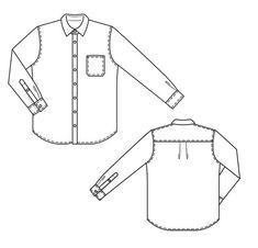 Burda 2013/04 [138] - Chemise en chambray de coupe classique. Une poche poitrine, des boutons de nacre, des empiècements d'épaule et des poignets sont ses détails typiques.