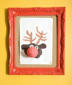 Great Christmas Kids Art. Using the balloon for Rudolph the Reindeers Nose!
