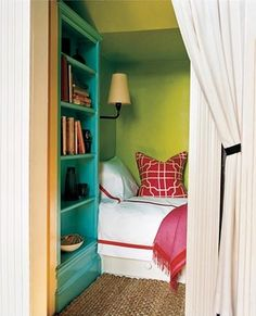 hidden bed. Like for a small space, or a studio apartment