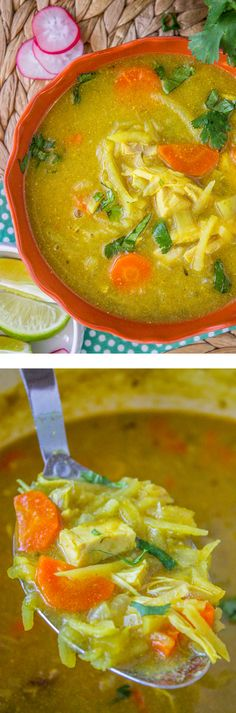 This Mulligatawny Soup is simple to throw together, and a hearty but healthy (and dairy-free) way to combat all the carbs this season. It's a curry flavored with chicken, carrots, and apples for a perfectly sweet twist. From The Food Charlatan.