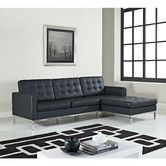 Found it at Wayfair - Loft Leather Right Arm Sectional Sofa