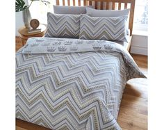Montiza Single, Double or King size duvet set with pillowcase(s) elephant design #Klife