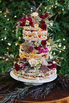 Photo by Heather Ellis Photography #utahwedding #utahweddingphotography #weddingcake #thanksgivingpoint #nakedcake