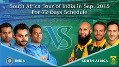 BCCI announced the complete schedule of South Africa's 72-day tour of India in Sept 2015