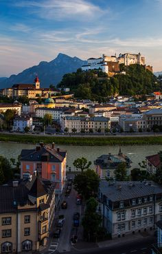Salzburg Castle in Austria / Travel Europe Places Around The World, Oh The Places You'll Go, Places To Travel, Places To Visit, Around The Worlds, Wonderful Places, Beautiful Places, Voyage Europe, Destination Voyage