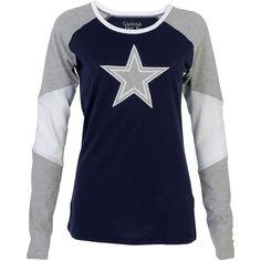 Dallas Cowboys Women's Rosemead Long-Sleeve T-Shirt #DALLASCOWBOYSMERCHANDIS #ShirtsTops