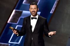 Jimmy Kimmel will host the 68th annual Primetime Emmy Awards, to be broadcast live on ABC on Sept. 18, 2016, at 8 p.m. The late-night talk show host is seen here at the 2015 Emmy Awards.