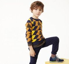 Paul Smith Junior Boys' Cotton-Cashmere Geometric 'Jacob' Sweater