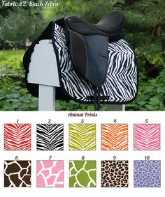 Hey, I found this really awesome Etsy listing at https://www.etsy.com/listing/102720432/made-to-order-animal-print-saddle-pad