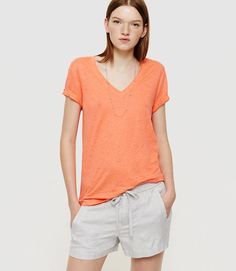 Primary Image of Lou & Grey V-Neck Linen Tee