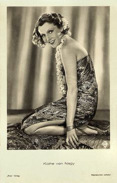 Käthe von Nagy | German postcard by Ross Verlag, no. 8954/1, 1933-1934. Photo: Ufa