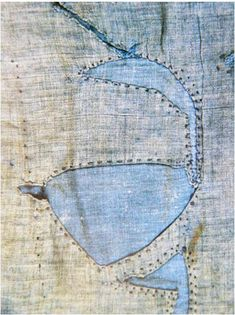 baleine diy jeans patch repair make the whole bigger, into a design of your choice, and you have a reverse applique!!