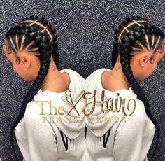 Cute cornrows via @the_hairtransformer - https://blackhairinformation.com/hairstyle-gallery/cute-cornrows-via-the_hairtransformer/