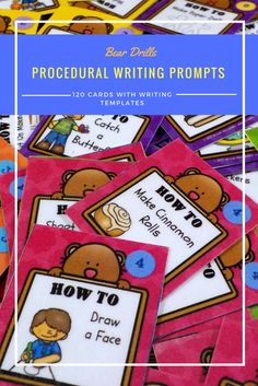 Procedural Writing Prompt Cards and a Freebie