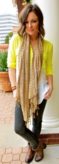 French Cuff Boutique: Daily Fashion Flash: Yellow is Golden