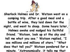Sherlock Holmes and Dr Watson go Camping - clean