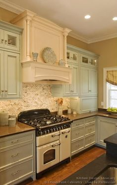 Mint Kitchen. This is actually a very beautiful color combination.