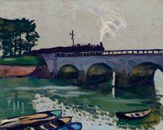 View Le Pont de Saint-Jean-de-Luz by Albert Marquet on artnet. Browse upcoming and past auction lots by Albert Marquet. Bridge Painting, River Painting, Raoul Dufy, Henri Matisse, France Art, Naive Art, Painting Inspiration, Landscape Paintings, Artwork