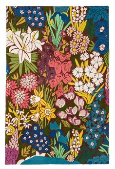 Zaida 1-Piece 150 x 90 cm Wool/ Cotton English Country Garden Rug