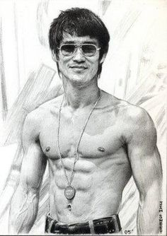 Exelente dibujo de Bruce Lee