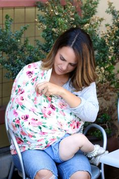 Covered Goods nursing covers allow for mom and baby to nurse comfortably!