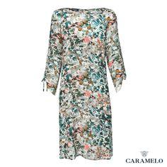 Vestido de Seda Estampado de la Colección Femenina de Caramelo.