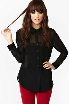 Block Out Blouse - Black