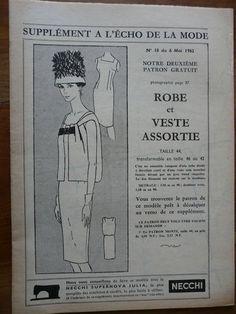 Fashion / Sewing Pattern-Echo de la Mode 1962 - Dress and matching jacket - T 44