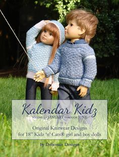 Autograph copies of Kalendar Kidz Volume One Knitting Pattern Book by DebonairsDesigns are available in my Etsy store