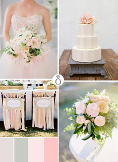 pink wedding color palettes via Project Wedding