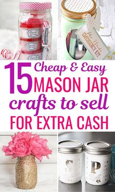 15 Mason jar crafts for kids to sell. These best selling mason jar crafts will be a hit at craft fairs or flea markets. Find out these awesome and unique ideas for easy DIY mason jar projects to sell and start making extra money today!