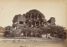 *Jain Temple, Gwalior Fort, a photo by Lala Deen Dayal, 1870's*