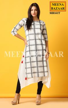 Gingham Print Kurti @ MeenaBazaar
