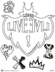 Descendants-Long-Live-Evil-coloring-Page-SKGaleana