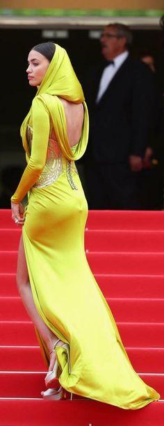 Irina Shayk in  hooded Atelier Versace gown | ~LadyLuxury~