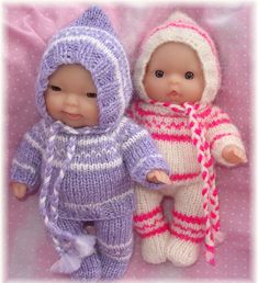 """Ravelry: luca - outfit for 5"""" (12cm) chubby berenguer pattern by Angela Fox"""
