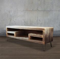 consoles - Reclaimed Wood Media Console With Shelving - Free Shipping - JW Atlas Wood Co. - 5