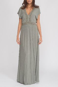 Anna Morellini Alexandra Maxi Dress in Khaki