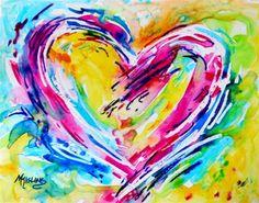 """Colorful Heart"" - Original Fine Art for Sale - © Martha Kisling"