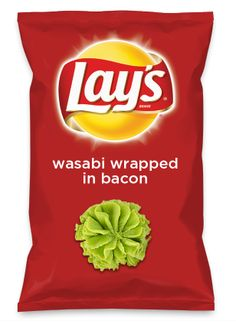 Wouldn't wasabi wrapped in bacon be yummy as a chip? Lay's Do Us A Flavor is back, and the search is on for the yummiest chip idea. Create one using your favorite flavors from around the country and you could win $1 million! https://www.dousaflavor.com See Rules.