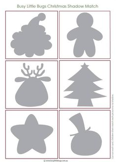 afbeeldingen schaduw 2 Preschool Christmas Crafts, Christmas Arts And Crafts, Christmas Activities For Kids, Winter Crafts For Kids, Christmas Games, Christmas Printables, Kids Christmas, Christmas Decorations, Shape Tracing Worksheets