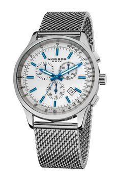 Men's Mesh Bracelet Quartz Chronograph Watch by Akribos on @nordstrom_rack