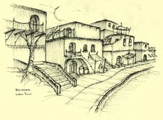 Morrowind - Concept Sketch of Balmora